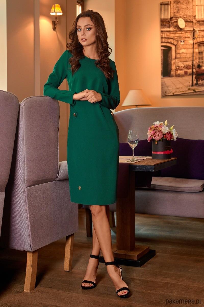 Elegancka sukienka biznesowa L274 - zieleń
