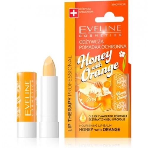 Eveline Lip Therapy pomadka odżywczka Honey&Orange