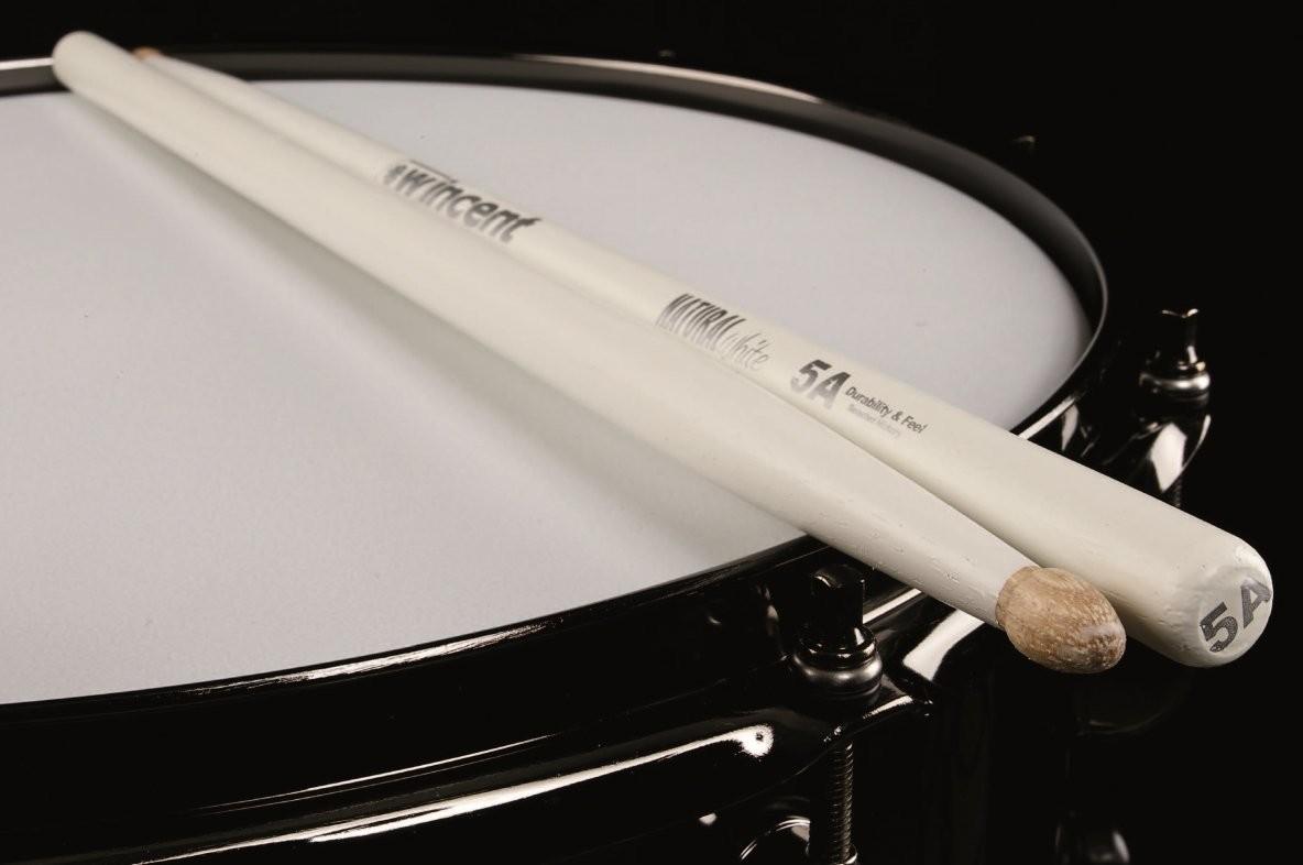 Wincent 5ACW pałki perkusyjne hikorowe białe