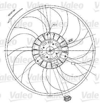 VALEO Wentylator, chłodzenie silnika VALEO 698424