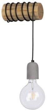 Spotlight Trabo Concrete kinkiet 1-punktowy sosna bejcowana/czarny/szary 69399151 69399151