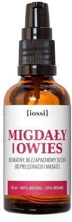 iossi Owies i migdały . Bezzapachowy olejek do masażu w ciąży zapobiegający powstawaniu rozstepów 50ml 5907222501320
