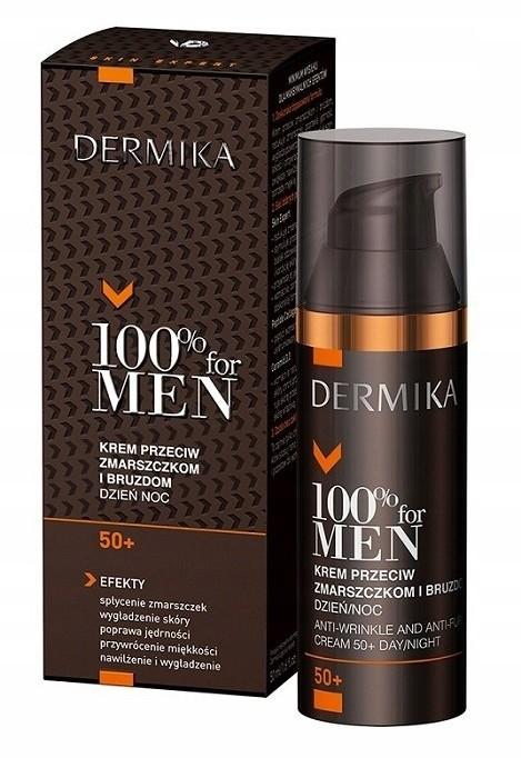 Dermika 100% for men 50+ krem wygładzający 50 ml