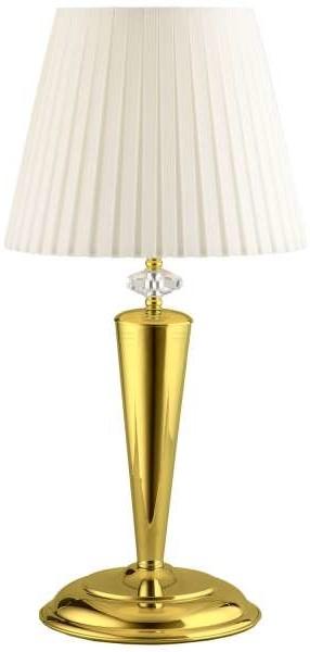 Amplex LAMPA stołowa LILOSA 268 stojąca LAMPKA nocna w stylu angielskim złota biała 268