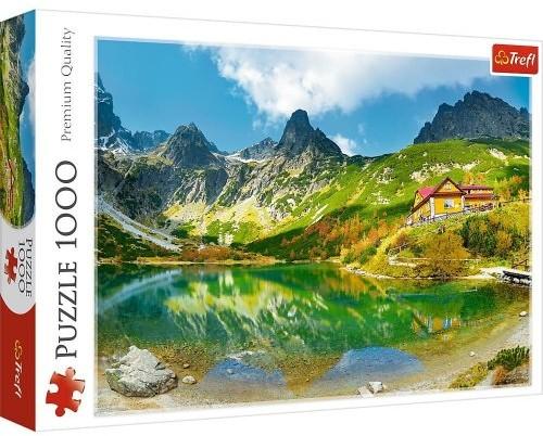 Trefl Puzzle 1000 elementów Schronisko nad Zielonym Stawem Tatry