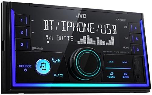 JVC KW-x830bt radio samochodowe z zestawem głośnomówiącym Bluetooth-z podwójnym DIN i przesyłania strumieniowego dźwięku Czarny KW-X830BT