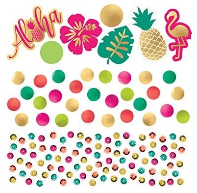 Amscan Flamingo Hawaiikonfetti Aloha dekoracja ściółkowa Corporation dekoracja stołu 360273