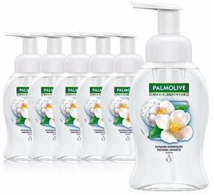 Palmolive Mydło piankowe jaśmin 6 x 250 ml, mydło piankowe do rąk, odpowiednie do skóry wrażliwej 61001999
