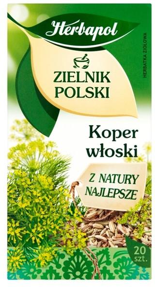 ZIELNIK POLSKI Herbapol Zielnik Polski Herbatka ziołowa koper włoski 40 g (20 x 2 g)