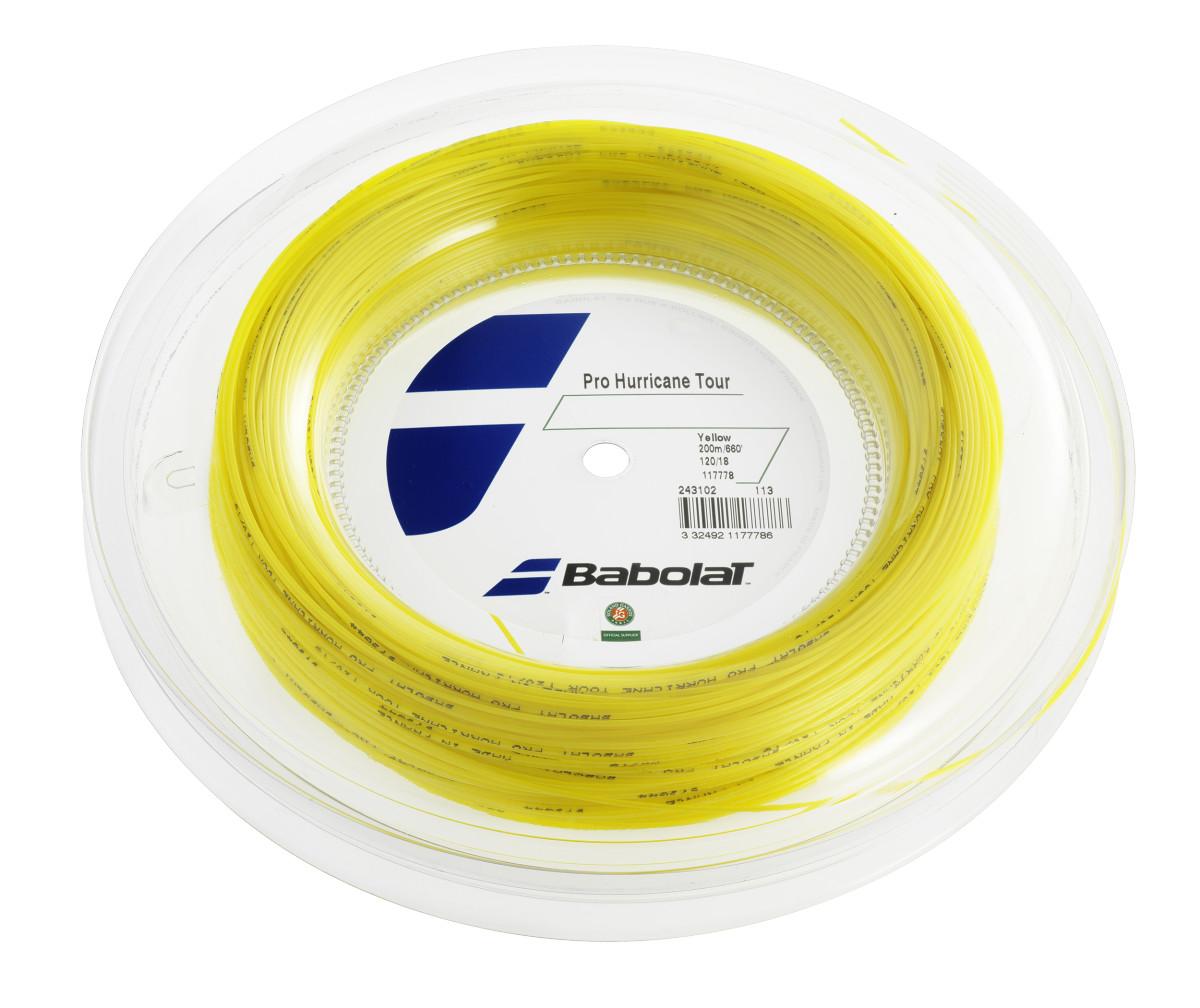 Babolat Pro Hurricane Tour naciąg tenisowy, 200 m, żółty 243102