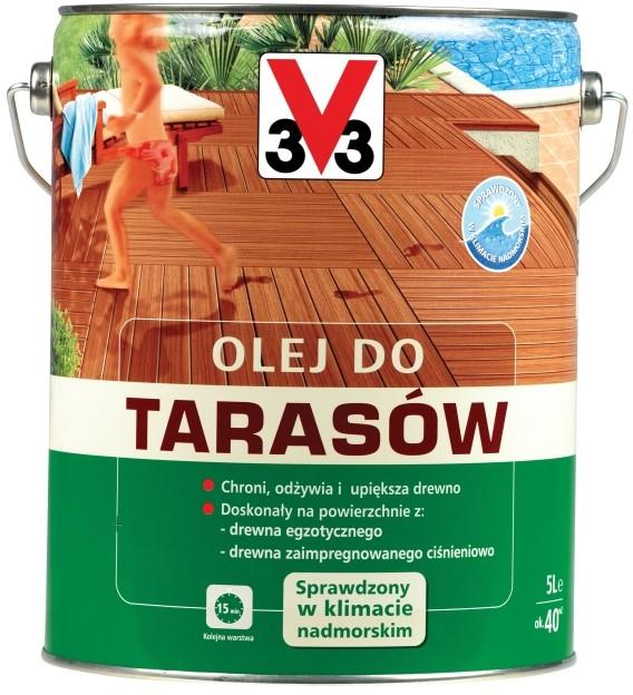 V33 Olej do taras?w bezbarwny 5 l