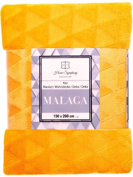 Euromat Koc z Mikrofibry Malaga Żółty Miodowy 09952