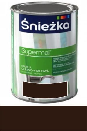 Śnieżka Emalia Supermal olejno-ftalowa brązowa czekoladowa RAL 8017 połysk 5l 831020