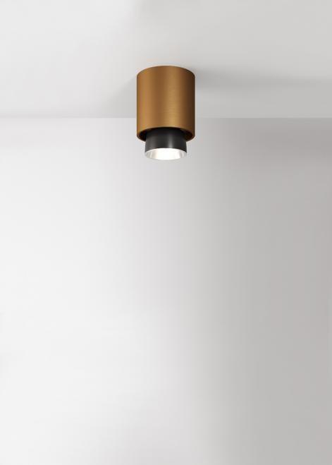 Fabbian Reflektorek Claque F43 20W 10cm Brąz F43 E02 76 F43E0276