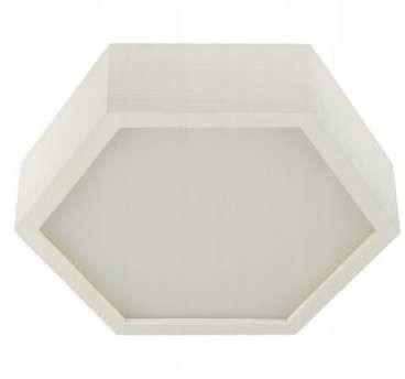 TEAM Geometryczna LAMPA sufitowa 137623689849 TEAM drewniana OPRAWA natynkowa sześcian ekologiczny czarny biały