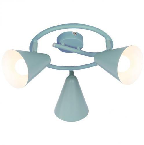 Candellux Lighting lampa do sufitu AMOR 98-63359 szare reflektorki sufitowe ruchome klosze pokój młodzieżowy 98-63359