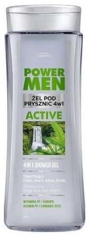 Joanna Żel pod prysznic 4w1 Power Men Active konopie i witamina PP 300ml