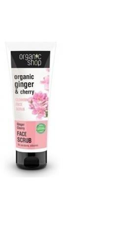 Organic Shop Organic Ginger & Cherry Cleansing Face Scrub oczyszczający scrub do twarzy 75ml 50701-uniw