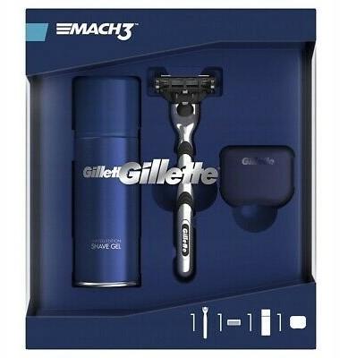 Gillette Zestaw MACH3 Maszynka+żel+etui Podróżne