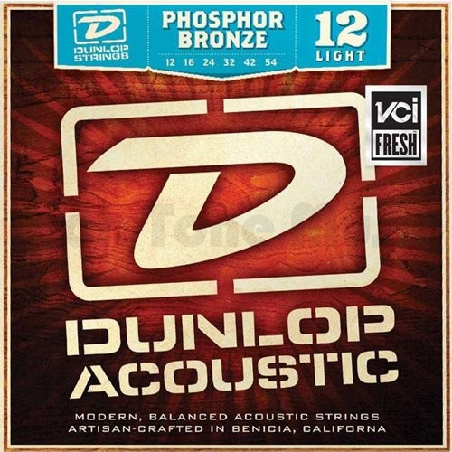 Dunlop DL STR DAP 012/054 Acoustic fosforu z brązu Light zestawu 38220125411