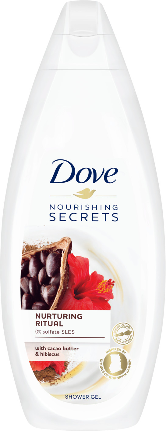Dove Nourishing Secrets Revitalising Ritual Żel pod prysznic Masło Kakaowe + Hibiskus 250 ml 974175