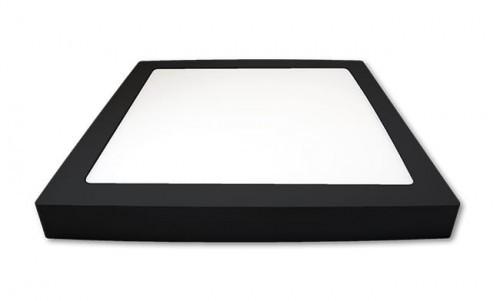 LVT Panel LED PROMA 18W natynkowy kwadrat czarny neutralny 4000K 1129