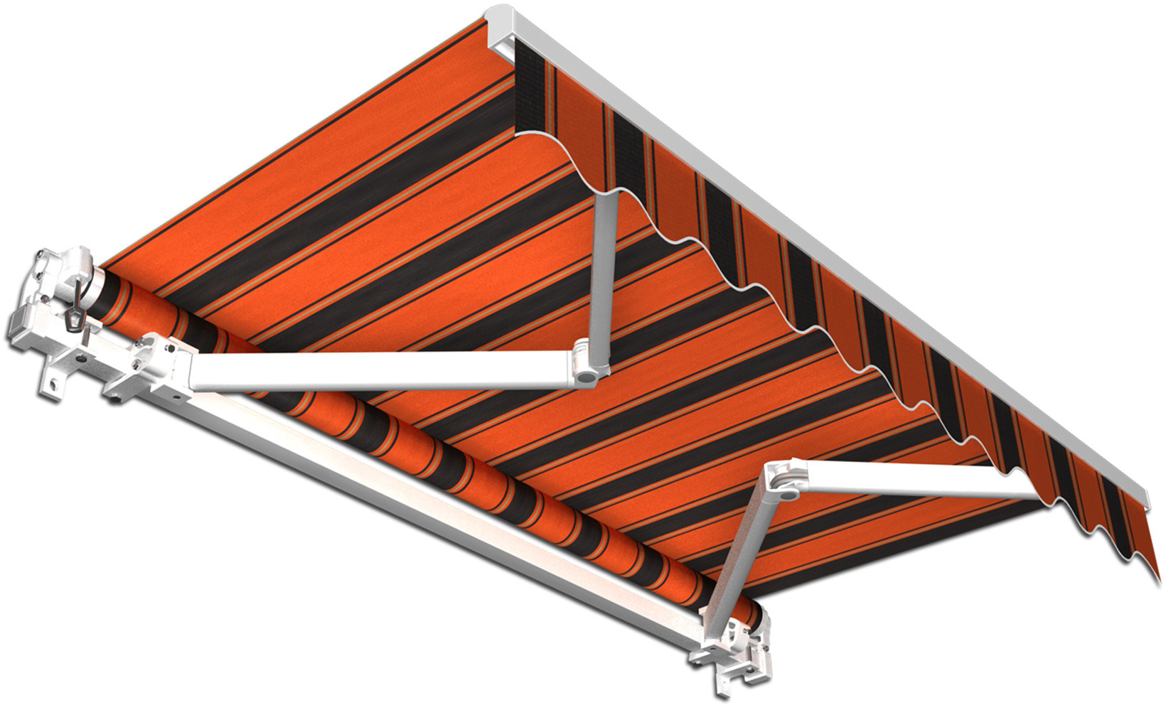 Jarolift Markiza Tarasowa Gotowa Basic, pomarańczowo-czarna, 250x150 cm
