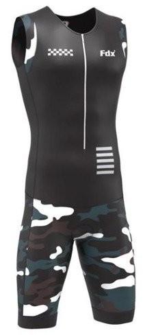 FDX FDX strój triathlonowy PRO Racing Triathlon Skinsuit czarny moro