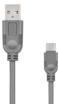 EXC Kabel USB 2.0 eXc WHIPPY USB A M USB 3.1 TYPU C M 5-pin 0,9m szary KKE0KKBU05U0