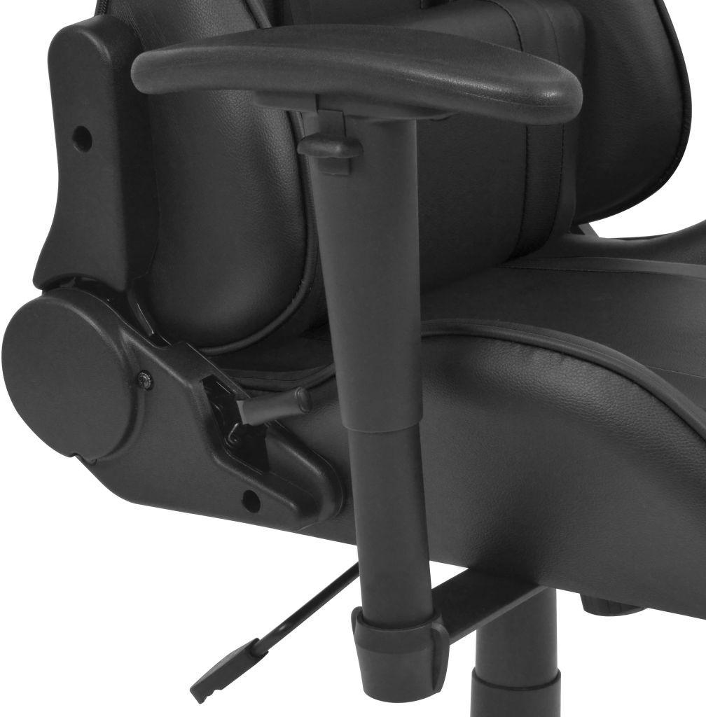 vidaXL Rozkładane krzesło biurowe, sportowe, sztuczna skóra, czarne vidaXL