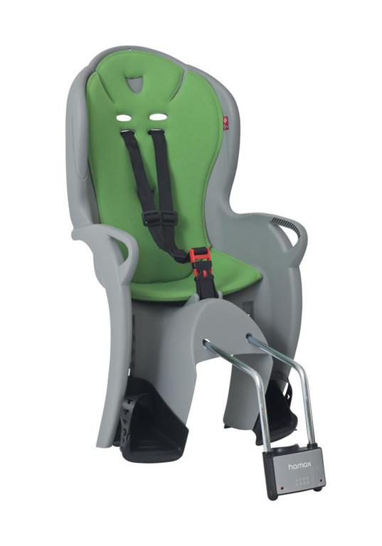 Hamax Fotelik rowerowy Kiss szary zielona wyściółka 7029775510449