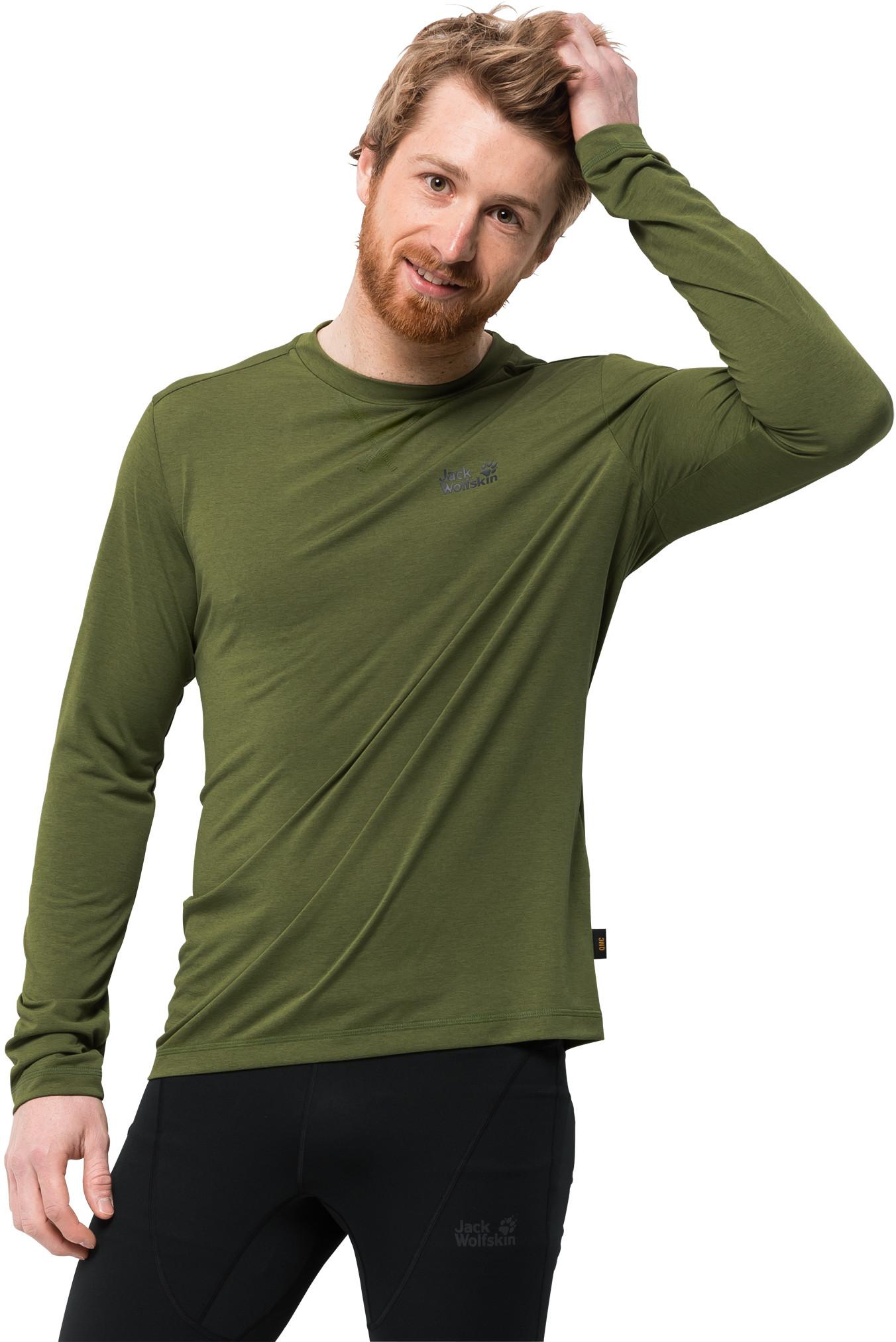 Jack Wolfskin Koszulka CROSSTRAIL LONGSLEEVE MEN cypress green