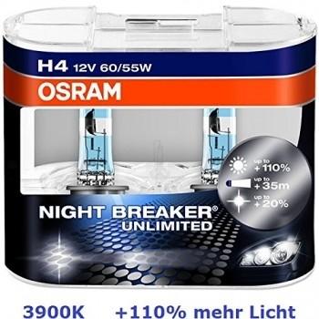 OSRAM OSRAM - ŻARÓWKA SAMOCHODOWA 12V P43T 60/55W H4 64193NBU-HCB NIGHT BREAKER UNLIMITED OPA=2SZT - 4052899017214/ 4052899413382