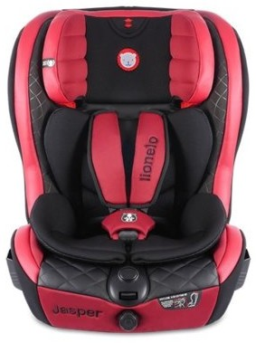 top LIONELO Jasper Leather isofix 9-36kg Czerwony
