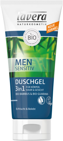 Lavera MEN SENSITIV Żel pod prysznic 3 w 1 do ciała, włosów i twarzy GreenLine-877-uniw