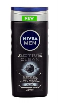 Nivea Nivea Men Active Clean żel pod prysznic 250 ml dla mężczyzn 50153