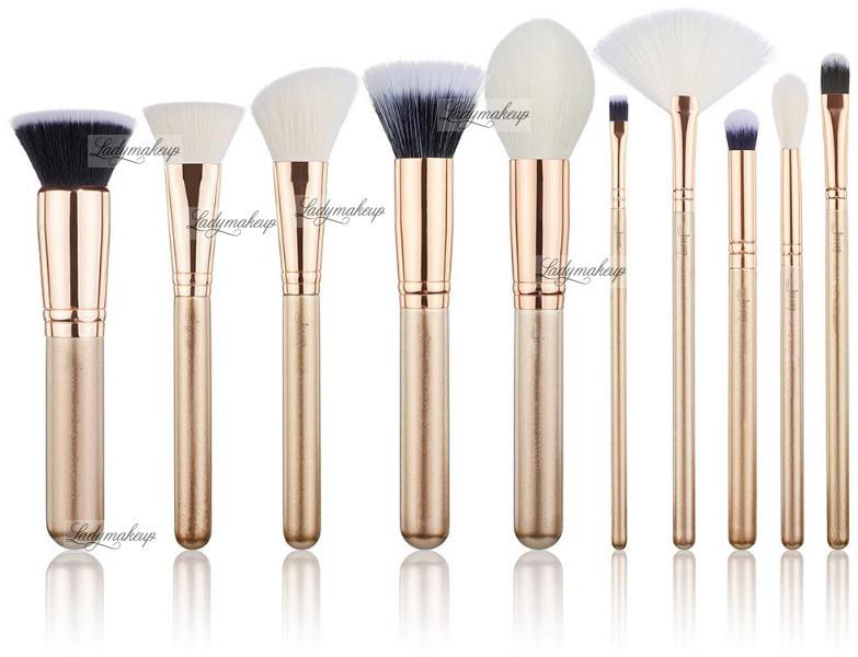 JESSUP BEAUTY JESSUP - Classics Series Brushes Set - Zestaw 10 pędzli do makijażu - T411 Golden/Rose Gold JESPMG04