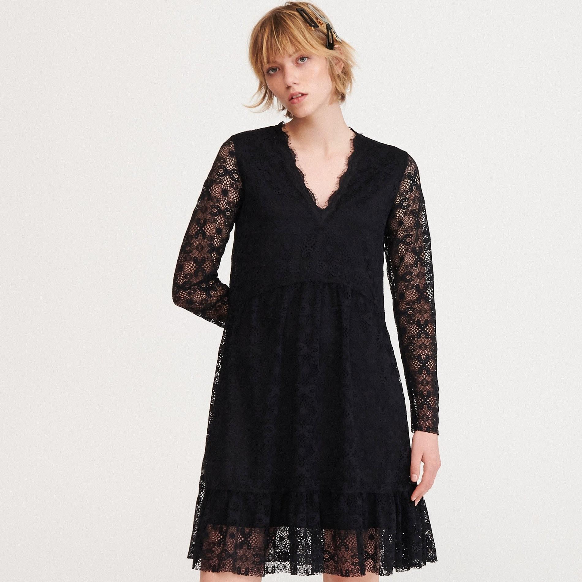 Reserved Koronkowa sukienka - Czarny