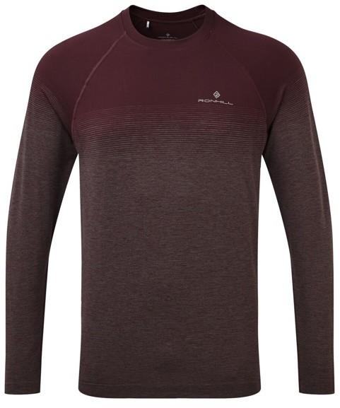 RONHILL RONHILL koszulka z długim rękawem do biegania INFINITY MARATHON L/S TEE bordowa