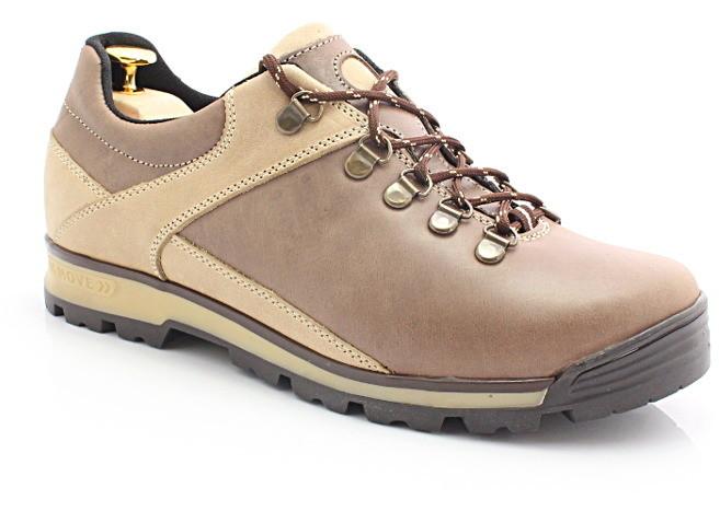 8e13e6b677ad9 Kent 290 BRĄZOWE - Trekkingowe buty męskie ze skóry 290 BRĄZOWE