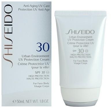 Shiseido Urban Environment UV Protection Cream przeciwsłoneczny krem do twarzy i ciała SPF 30 - 50ml Upominek gratis !