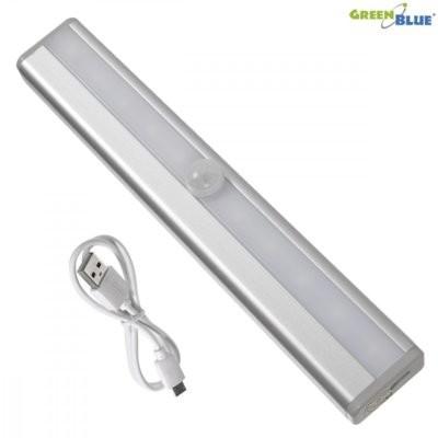GreenBlue GreenBlue Lampa LED z czujnikiem pir do kuchni garderoby GB119 wbudowany akumulator USB GB119