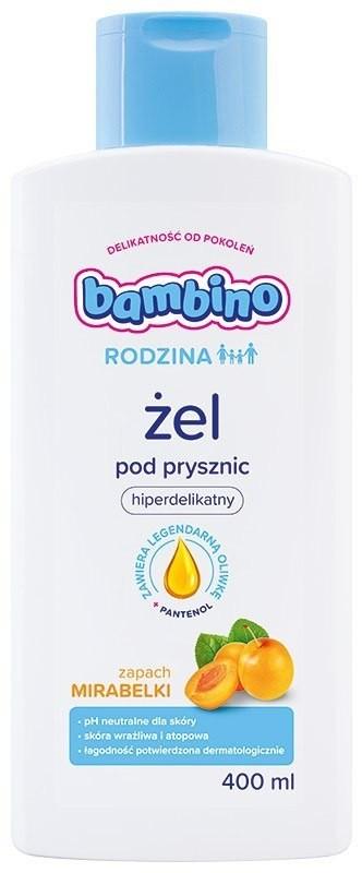 Nivea Bambino Rodzina Żel pod prysznic hiperdelikatny - zapach Mirabelki 400ml 0184893