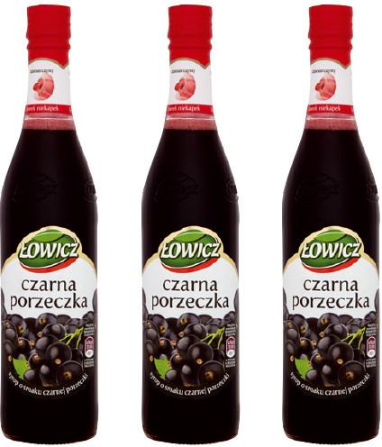 Łowicz Syrop owocowy - Czarna porzeczka 400ml