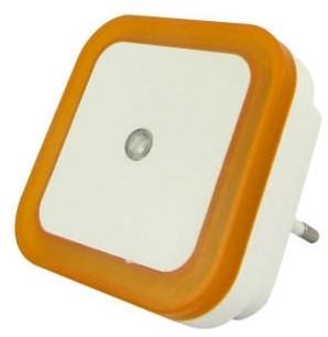 Baterie Centrum LED Nocne światło z czujnikiem LED/0,5W/230V pomarańczowe