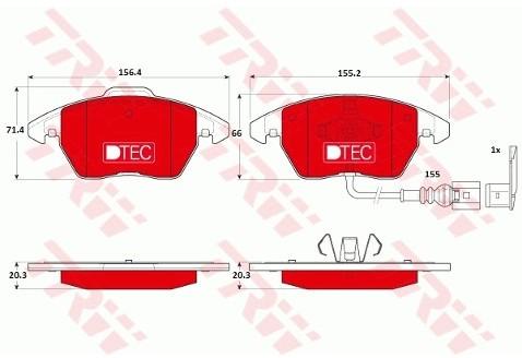 TRW Klocki hamulcowe - komplet GDB1550DTE