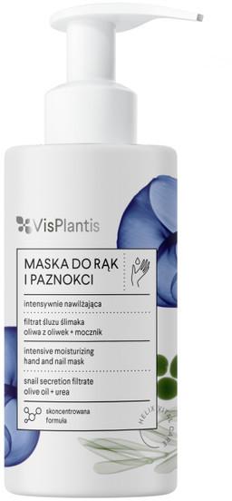 Vis Plantis intensywnie nawilżająca maska do rąk i paznokci filtrat śluzu ślimaka oliwa z oliwek mocznik 135ml