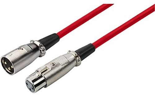 IMG Stage Line 100/RT przewód mikrofonowy (wtyczka XLR/XLR złącze MEC) 1m Czerwony MEC100RT