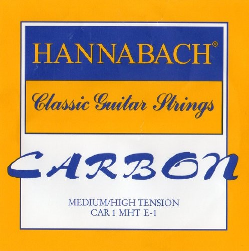 Hannabach Klassik Gita rrensaiten Carbon średni/High Tension dyszkantoweE1 CARBON MH 1st