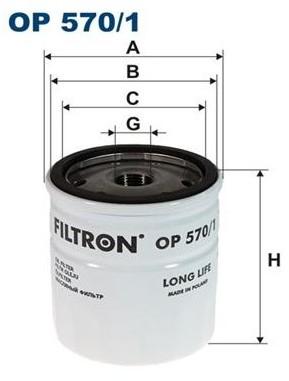 FILTRON OP 570/1 FILTR OLEJU